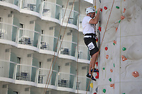 The launch of Royal Caribbean International's Oasis of the Seas, the worlds largest cruise ship..Rock climbing wall