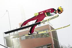 February 8, 2019 - Lahti, Finland - Maxime Laheurte competes during Nordic Combined, PCR/Qualification at Lahti Ski Games in Lahti, Finland on 8 February 2019. (Credit Image: © Antti Yrjonen/NurPhoto via ZUMA Press)