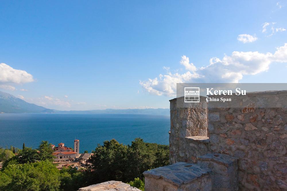 Tsar Samuil's Fortress and Plaosnik by Lake Ohrid, Ohrid, Republic of Macedonia