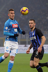 December 26, 2018 - Milan, Milan, Italy - Arkadiusz Milik #99 of SSC Napoli in action during the serie A match between FC Internazionale and SSC Napoli at Stadio Giuseppe Meazza on December 26, 2018 in Milan, Italy. (Credit Image: © Giuseppe Cottini/NurPhoto via ZUMA Press)