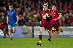 December 30, 2018 - Limerick, Ireland - Keith Earls of Munster runs with the ball to score a second try during the Guinness PRO14 match between Munster Rugby and Leinster Rugby at Thomond Park in Limerick, Ireland on December 29, 2018  (Credit Image: © Andrew Surma/NurPhoto via ZUMA Press)