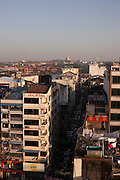 Skyline of the city of Yangon, in Burma.<br /> Note: These images are not distributed or sold in Portugal