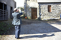 barn in Cumbria being photographed by inspector