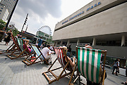 Deckchairs outside the Festival Hall, London