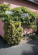 Road sign at village of Mendlesham, Suffolk, Englan