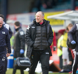 Inverness Caledonian Thistle's manager John Hughes at the end. <br /> Dundee 1 v 1 Inverness Caledonian Thistle, SPFL Ladbrokes Premiership game played at Dens Park, 27/2/2016.