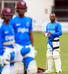 West Indies' Jermaine Blackwood during the nets session at Lords, London.