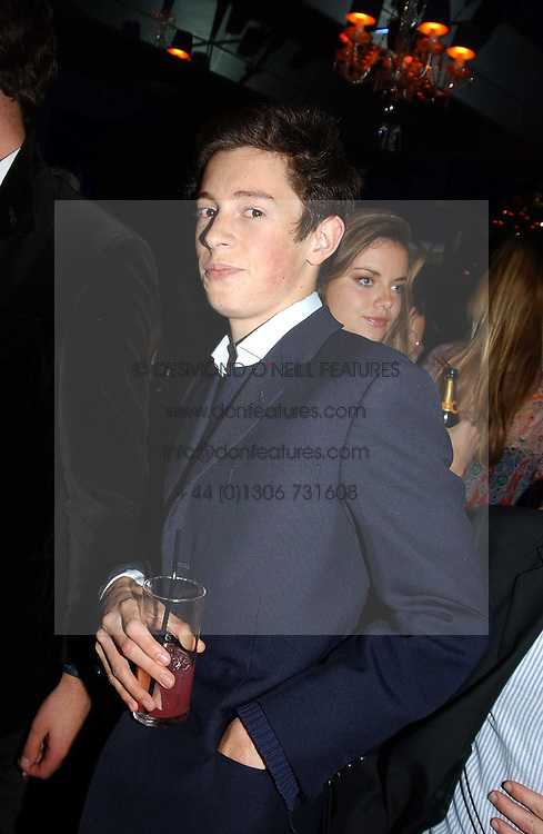 MR JAMES ROTHSCHILD at a party hosted by Tatler magazine to celebrate the publication of the 2004 Little Black Book held at Tramp, 38 Jermyn Street, London SW1 on 10th November 2004.<br /><br />NON EXCLUSIVE - WORLD RIGHTS