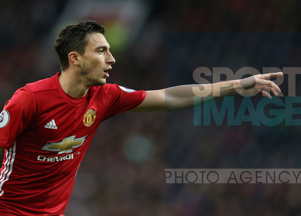 Matteo Darmian of Manchester United during the English Premier League match at Old Trafford Stadium, Manchester. Picture date: December 11th, 2016. Pic Simon Bellis/Sportimage