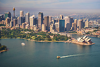 Sydney City Centre, Royal Botanic Gardens, and Opera House