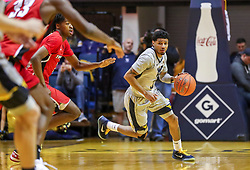 Dec 1, 2018; Morgantown, WV, USA; West Virginia Mountaineers guard James Bolden (3) dribbles the ball up the floor during the second half against the Youngstown State Penguins at WVU Coliseum. Mandatory Credit: Ben Queen-USA TODAY Sports