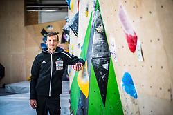 Gregor Vezonik during press conference before the new season of climbing 2019, on April 1, 2019 in Ljubljana, Slovenia. Photo by Peter Podobnik / Sportida