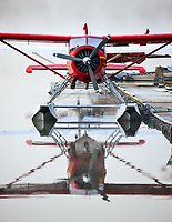 Calm water and early morning fog makes for a nice reflection of this Alpine Aviation DHC-2 Beaver