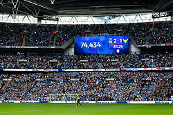 Wembley attendance 74,434 a new record for the Checkatrade Trophy Final - Photo mandatory by-line: Jason Brown/JMP -  02/04//2017 - SPORT - Football - London - Wembley Stadium - Coventry City v Oxford United - Checkatrade Trophy Final