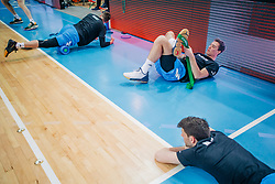 Players of Slovenia seen before basketball match between National teams of Slovenia and Austria in 2nd Round of the 2021 EuroBasket Qualifiers, on February 23, 2020 in Arena Bonifika, Koper / Capodistria, Slovenia. Photo by Sinisa Kanizaj / Sportida