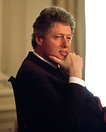 President William Clinton at an event in the Statge Dining Room in  March 1993<br /> <br /> Photograph ny Dennis Brack. bb78