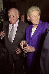 PRINCE & PRINCESS RUPERT LOWENSTEIN at a party in London on 10th October 2000.OHT 42