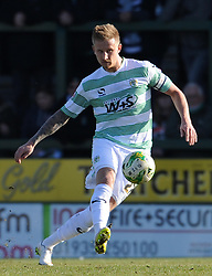 Yeovil Town's Byron Webster - Photo mandatory by-line: Harry Trump/JMP - Mobile: 07966 386802 - 07/03/15 - SPORT - Football - Sky Bet League One - Yeovil Town v Oldham Athletic - Huish Park, Yeovil, England.