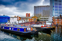 Birmingham Canal Old Line in the centre of the city of Birmingam, England<br /> <br /> (c) Andrew Wilson | Edinburgh Elite media