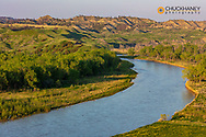The Musselshell River Breaks in Petroleum County, Montana, USA