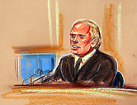 COPYRIGHT PRISCILLA COLEMAN ITV ARTIST 15.09.03.PICTURE SHOWS:DOCTOR RICHARD SCOTT, DEFENCE SCIENCE AND TECHNOLOGY LABORATORY GIVING EVIDENCE AT THE HIGH COURT IN LONDON TO THE KELLY INQUIRY.