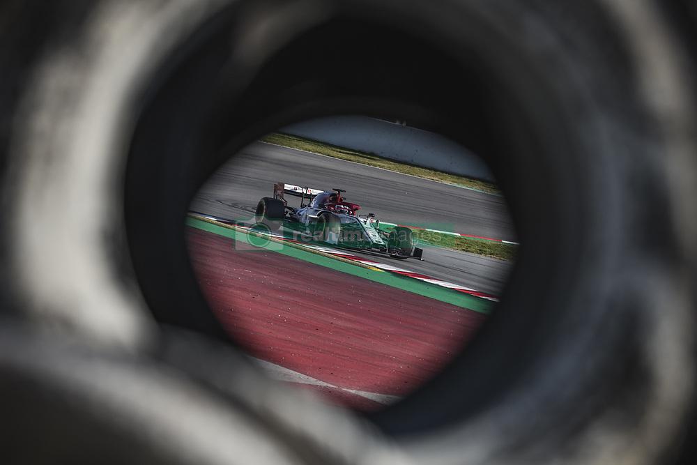 February 18, 2019 - Barcelona, Catalonia, Spain - KIMI RAIKKONEN (FIN) from team Alfa Romeo drives during day one of the Formula One winter testing at Circuit de Catalunya (Credit Image: © Matthias Oesterle/ZUMA Wire)