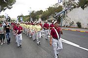 Israel, Jerusalem, People marching in the Jerusalem annual parade October 2009