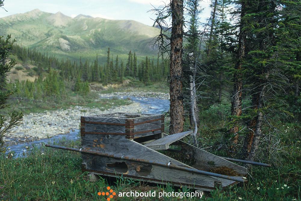 Old sluice box, Yukon