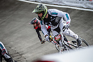 #264 during practice at the 2018 UCI BMX World Championships in Baku, Azerbaijan.