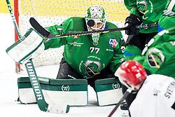 Paavo Holsa of HK SZ Olimpija during ice hockey match between HK SZ Olimpija and HDD SIJ Acroni Jesenice in fifth game of Final at Slovenian National League, on May 10, 2021 in Hala Tivoli, Ljubljana, Slovenia. Photo by Matic Klansek Velej / Sportida