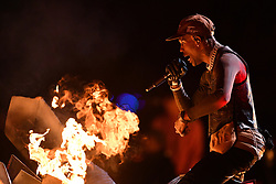 Travis Scott performs during the Pepsi Super Bowl LIII Halftime Show at Mercedes-Benz Stadium on February 3, 2019 in Atlanta, Georgia. Photo by Lionel Hahn/ABACAPRESS.COM