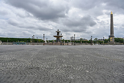 Place de la Concorde on the 43rd day of lockdown to prevent the spread of Covid-19. Paris, France on April 28, 2020. Photo by Vincent Gramain/ABACAPRESS.COM