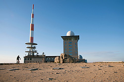 View of Brockenuhr observation point on Brocken