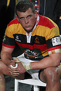 10 minutes time out for Toby Smith of Waikato during their Round 5 ITM cup Rugby match, Waikato v Tasman, at Waikato Stadium, Hamilton, New Zealand, Friday 29 July 2011. Photo: Dion Mellow/photosport.co.nz