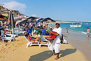 Beach vendor, Medano Beach, Cabo San Lucas, Baja, Mexico