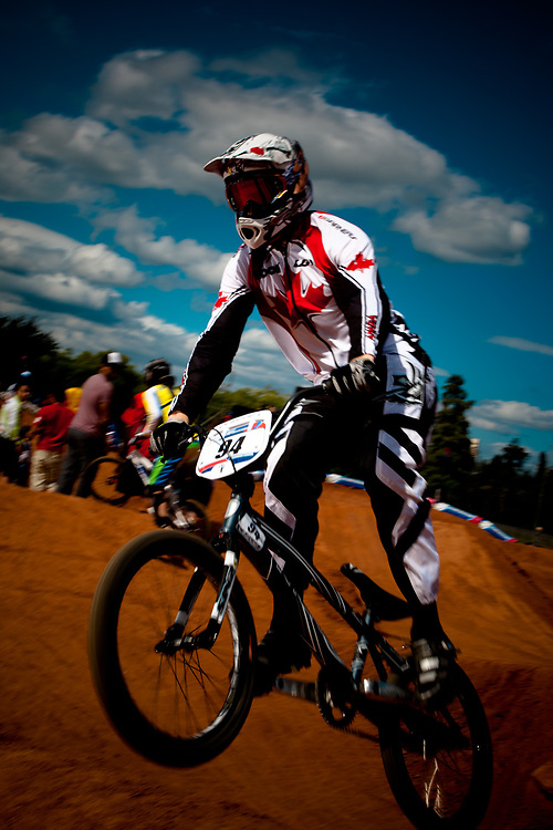 James Brown (CAN) during the practice session at the UCI BMX Supercross World Cup, Pietermaritzburg, 2011