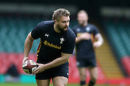 Tomas Francis of Wales in action during the Wales Rugby captains run, ahead of tomorrows RBS Six nations match against England. Principality Stadium, Cardiff, South Wales on Friday 10th Feb 2017.   pic by  Andrew Orchard, Andrew Orchard sports photography.
