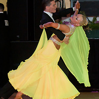 Marcus Mitchell and Rosie Ward from England perorm their dance during the Amateur Rising Stars Ballroom competition of the Blacpool Dance Festival that is the most famous event among dance competiptions held in Blackpool, United Kingdom on May 26, 2011. ATTILA VOLGYI