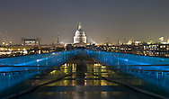 A view of St Paul's Cathedral from the Millennium Bridge, London