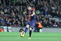 06.01.2013 Barcelona, Spain. La Liga day 18. Picture show Cesc Fabregas  in action during game between FC Barcelona against RCD Espanyol at Camp Nou