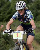 Sykkel , 20 August 2005 , Birkebeinerrittet ,<br /> UCI Mountain Bike Marathon , World Championships ,<br /> Lillehammer - Norway ,<br /> <br /> Gunn - Rita Dahle , Norge ble verdensmester på hjemmebane .