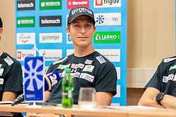 Jurij Tepes during press conference of Slovenian Nordic Ski Jumping team, on June 23, 2020 in Hotel Livada, Moravske Toplice, Slovenia. Photo by Ales Cipot / Sportida