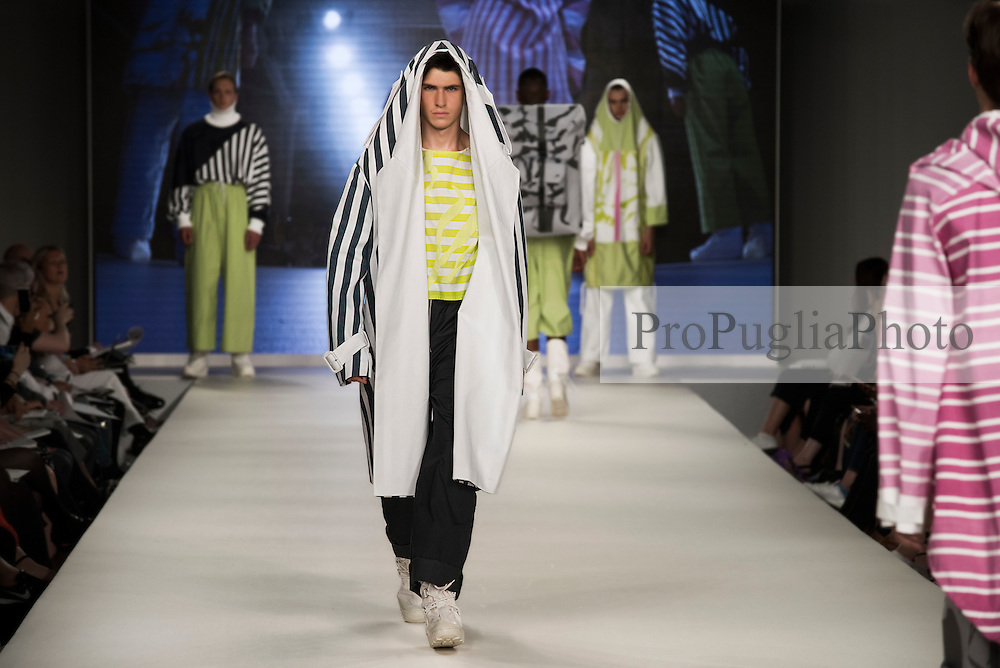 Graduate Fashion Week London 5th July 2016. Birmingham City University is one of Britain's leading providers of talented professionals to the cultural and creative industries. The School of Fashion and Textiles offers a large portfolio of subjects which reflect the changing nature of the global design industry. The portfolio of courses include fashion design, textile design, and fashion business promotion. The School has an excellent record for graduate employability.<br /> <br /> The School of Fashion, Textiles and Three-Dimensional Design offers a large portfolio of subjects which reflect the changing nature of the global design industry. Fashion communication, costume design, fashion accessories, styling, and design management all represent recent directions in our growing portfolio of courses which include Fashion Design, and Fashion Retail Management. The School has an excellent record for graduate employability.