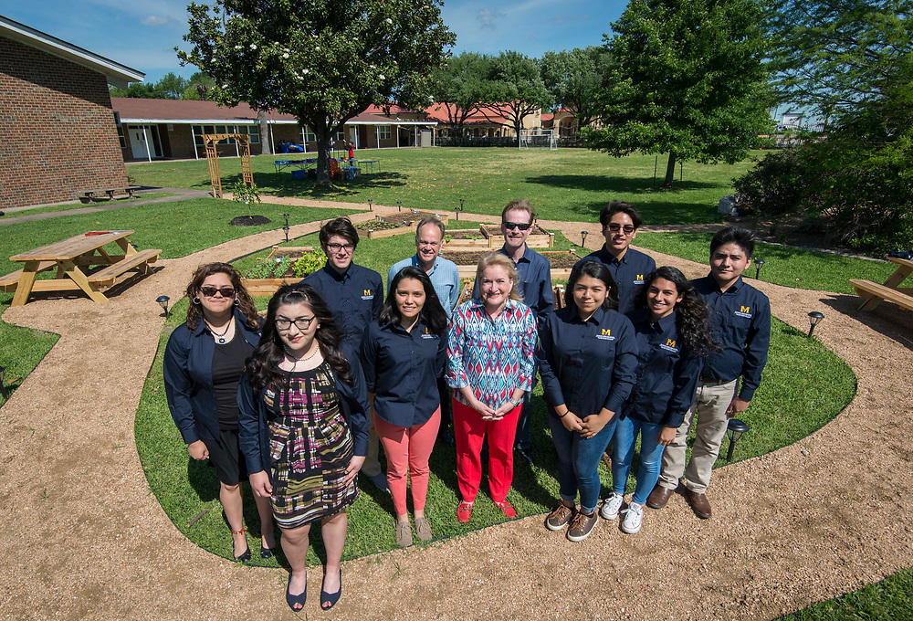 Dedication of community garden built by Milby High School students with a grant from Cheniere at Milby Mission, April 8, 2017.