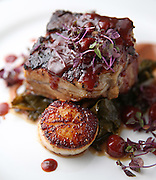 The pork belly and scallops Tuesday, March 25, 2014 at Bow & Stern. (Brian Cassella/Chicago Tribune) B583620020Z.1 <br /> ....OUTSIDE TRIBUNE CO.- NO MAGS,  NO SALES, NO INTERNET, NO TV, CHICAGO OUT, NO DIGITAL MANIPULATION...