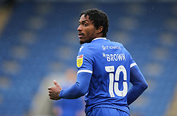Jevani Brown of Colchester United - Mandatory by-line: Arron Gent/JMP - 03/10/2020 - FOOTBALL - JobServe Community Stadium - Colchester, England - Colchester United v Oldham Athletic - Sky Bet League Two