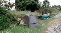 Camping in the backyard, Islay