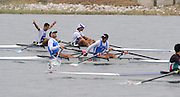 Marathon, GREECE,  GRE LM2X, Bow, Dimitrios MOUGIOS and Vasileios POLYMEROS winning the Gold medal  in the men's Liegtweight double sculls, at the FISA European Rowing Championships.  Lake Schinias Rowing Course, SAT. 20.09.2008  [Mandatory Credit Peter Spurrier/ Intersport Images] , Rowing Course; Lake Schinias Olympic Rowing Course. GREECE