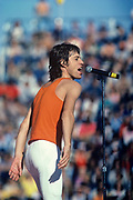 BOULDER, CO - OCTOBER: Mick Jagger sings to the crowd during a 1981 concert at Folsom Field. (Photo by John Kelly/Getty Images)