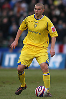 Fotball<br /> England<br /> Foto: Colorsport/Digitalsport<br /> NORWAY ONLY<br /> <br /> Carl Dickinson (Leeds United)<br /> Brighton and Hove Albion vs Leeds United at the Withdean Stadium Brighton. Coca Cola Football League One. 17/01/2009